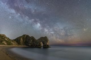 Milkway over Durdle Door
